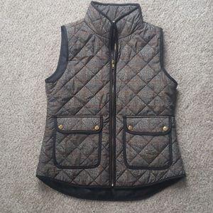 Medium Kenar Gray Plaid Puffer Vest